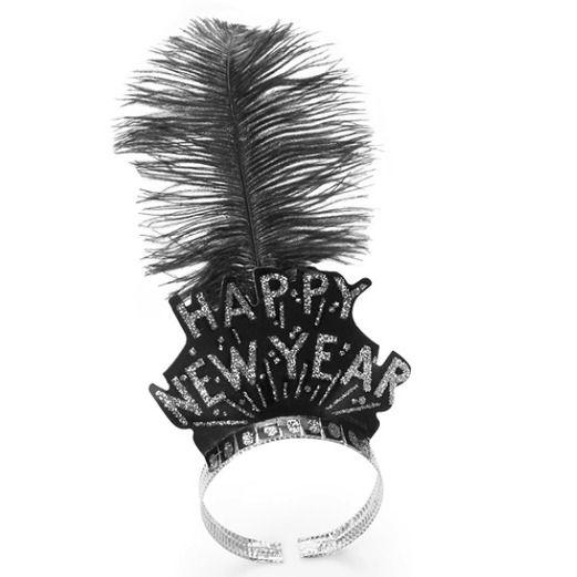 New Years Hats & Headwear Silver Swing Tiara Image