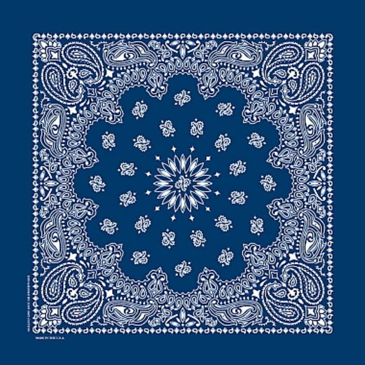 Western Party Wear Deluxe Blue Bandana Image