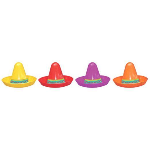 Mini Plastic Sombreros