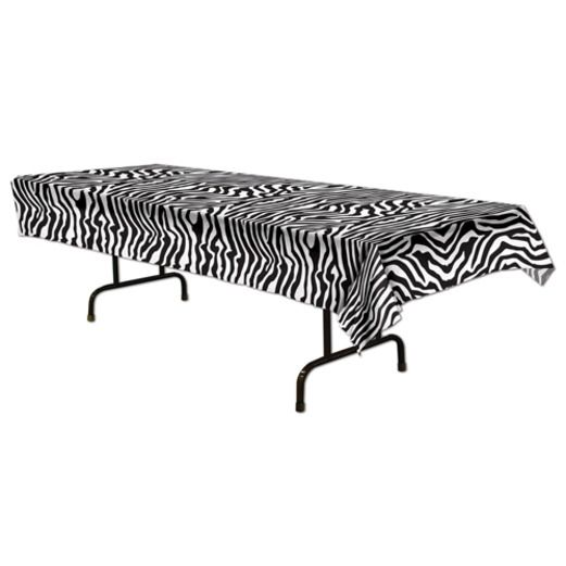 Jungle & Safari Table Accessories Zebra Print Tablecover Image