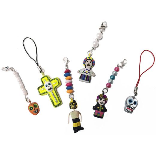 Day of the Dead Decorations Mini Day of the Dead Charm Image