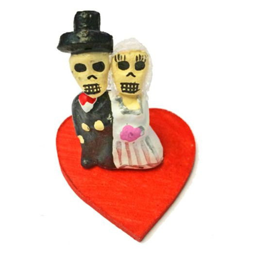 Day of the Dead Decorations Miniature Day of the Dead Bride and Groom Image