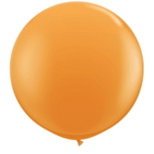Halloween Balloons 3' Orange Latex Balloon Image