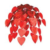Valentine's Day Decorations Red Heart Cascade Image