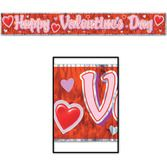 Valentine's Day Decorations Valentine Banner Metallic Image