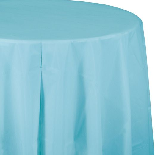 Table Accessories / Table Covers Round Table Cover Light Blue Image