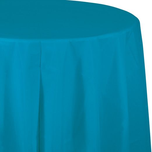 Table Accessories / Table Covers Round Table Cover Turquoise Image