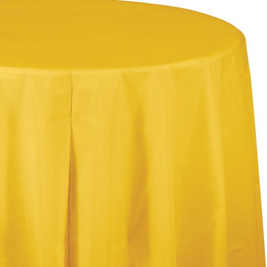 Table Accessories / Table Covers Round Table Cover Golden Yellow Image