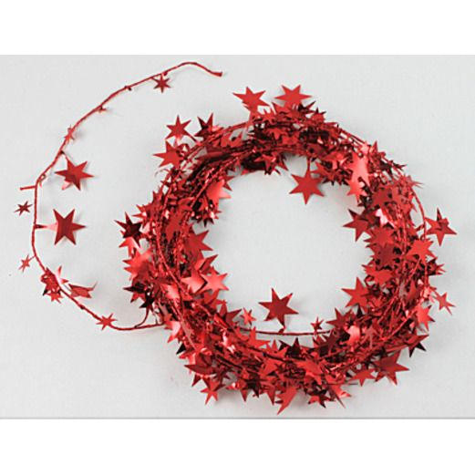 4th of July Decorations Red Star Wire Garland Image