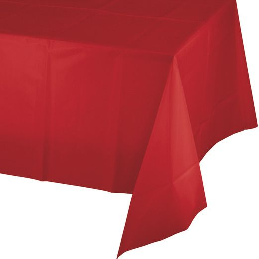 Valentine's Day Table Accessories Rectangular Table Cover Red Image