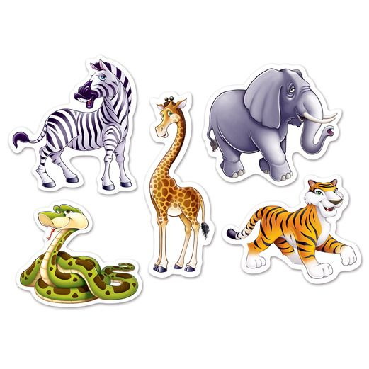 Jungle & Safari Decorations Mini Jungle Animal Cutouts Image