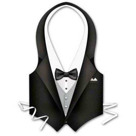 Awards Night & Hollywood Party Wear Plastic Tuxedo Vest Image