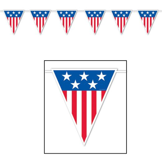 4th of July Decorations Giant American Spirit Pennant Image