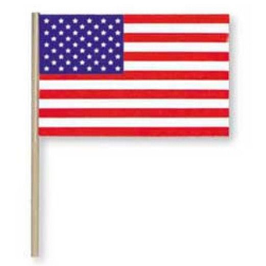 "4th of July Decorations 8"" x 12"" Cotton American Flag Image"