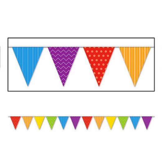 Decorations Dots and Stripes Pennant Banner Image