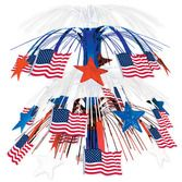 4th of July Decorations Red-White-Blue Star Cascade Centerpiece Image