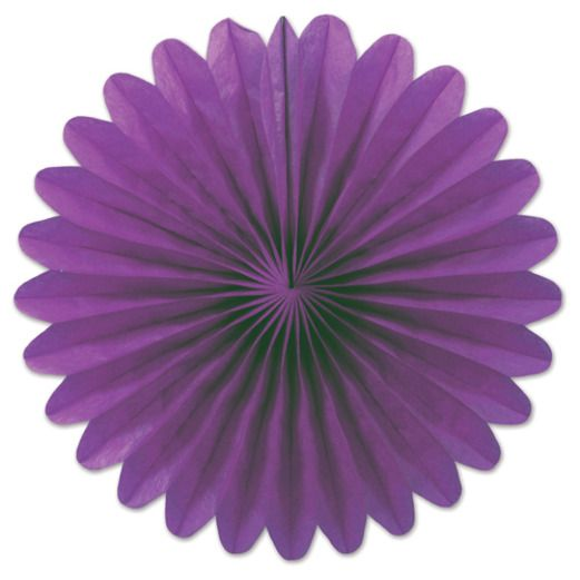 Mardi Gras Decorations Purple Mini Tissue Fans Image