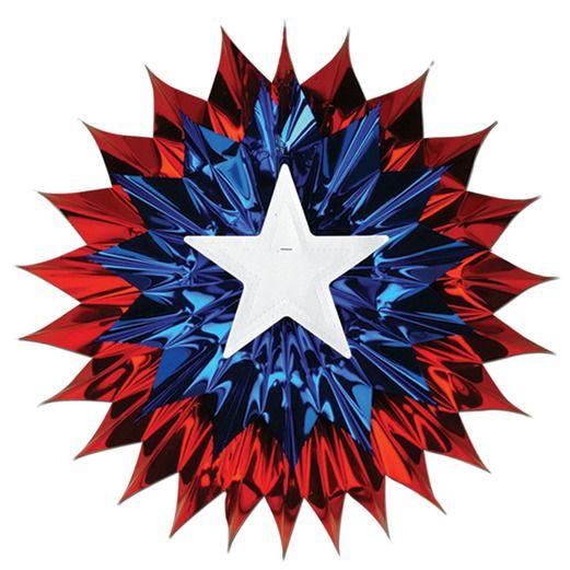 4th of July Decorations Patriotic Fan Burst Image