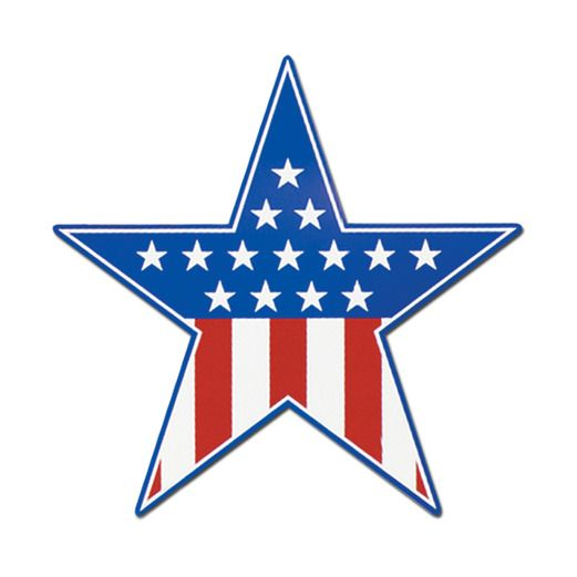 4th of July Decorations Patriotic Star Cutout Image