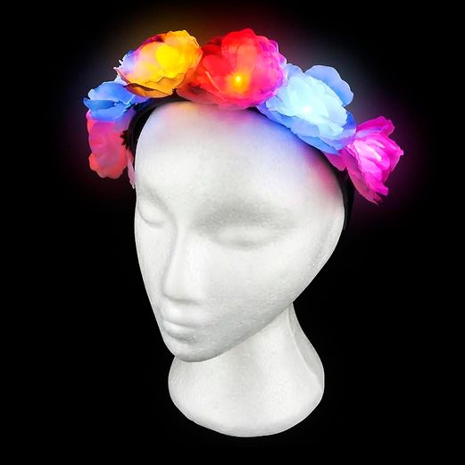 Glow Lights Light Up Flower Headband Image