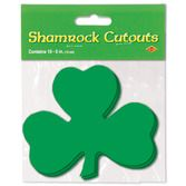 "St. Patrick's Day Decorations 5"" Packaged Shamrock Cutouts Image"