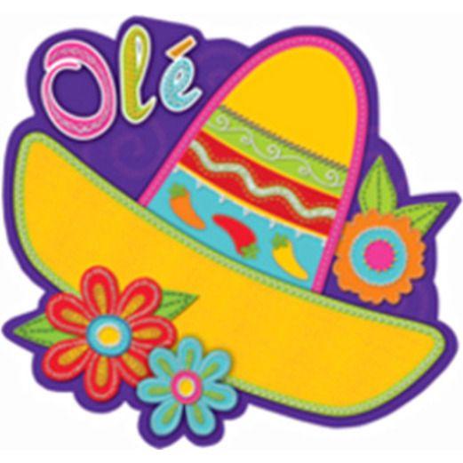 Cinco de Mayo Decorations Sombrero With Flower Cutout Image