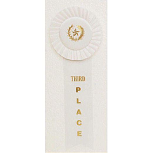 Favors & Prizes 3rd Place Rosette Ribbon Image