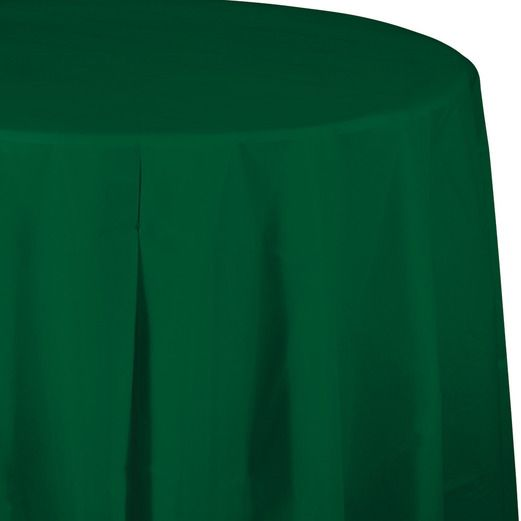 Table Accessories / Table Covers Round Table Cover Hunter Green Image