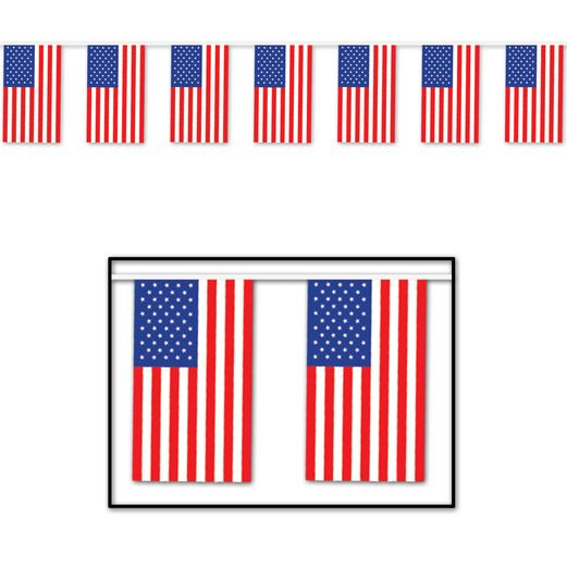 4th of July Decorations American Flag Banner Image