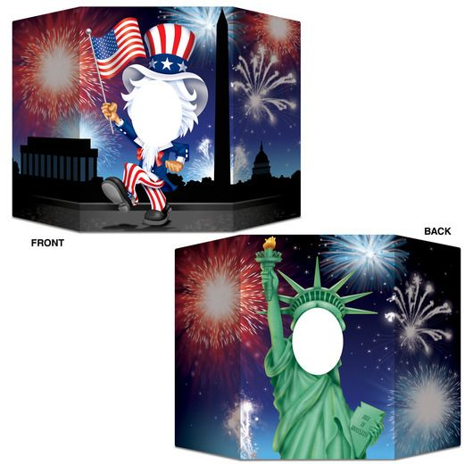 4th of July Decorations Patriotic Photo Prop Image
