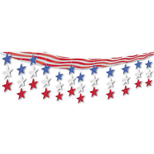4th of July Decorations Stars and Stripes Sky-Scape Image