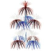 4th of July Decorations Red, White, and Blue Firework Chandelier Image