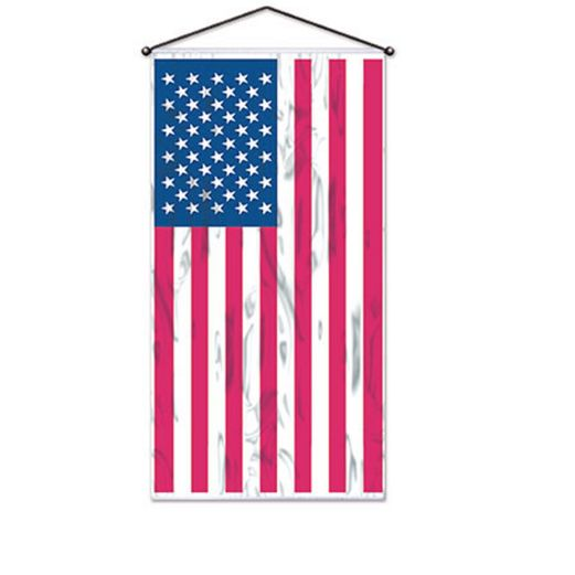 Patriotic Decorations American Flag Wall Panel Image