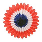 4th of July Decorations Red, White and Blue Mini Tissue Fans Image