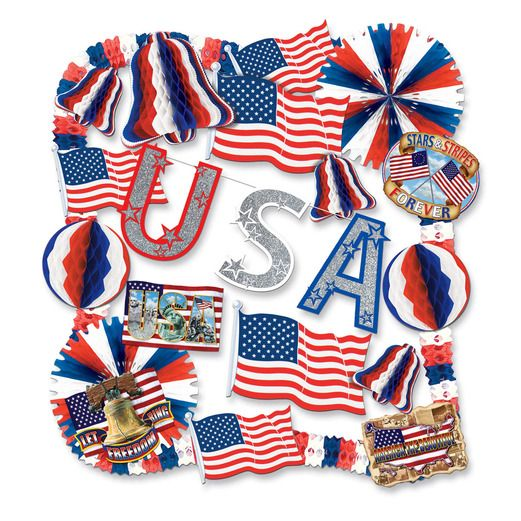 4th of July Decorations Patriotic Decorating Kit Image