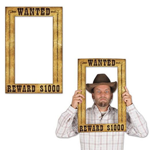 Western Decorations Western Wanted Photo Fun Frame Image