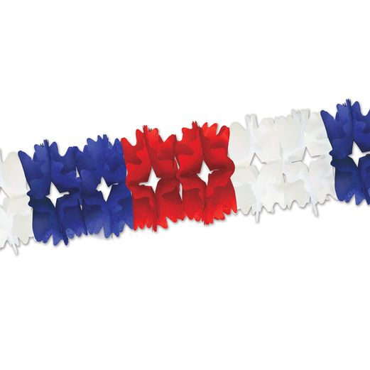 4th of July Decorations Red-White-Blue Pageant Garland Image