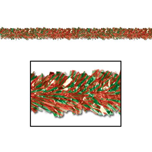 Christmas Decorations Red and Green Festoon Garland Image