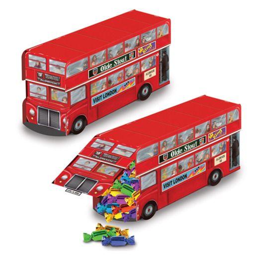 International Decorations Double Decker Bus Centerpiece Image
