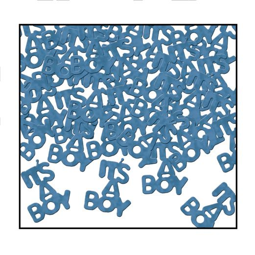 Baby Shower Decorations It's A Boy Confetti Image