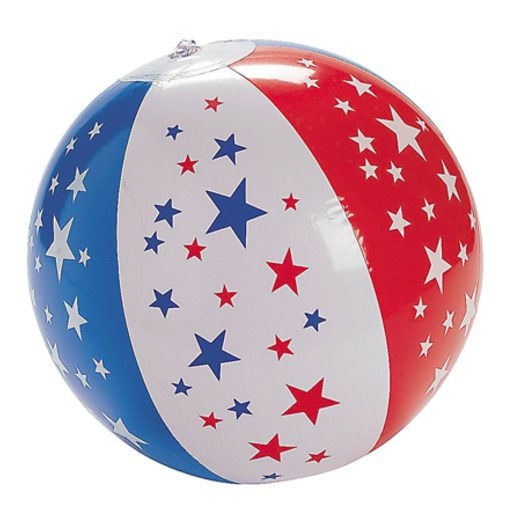 4th of July Favors & Prizes Patriotic Beach Ball Image