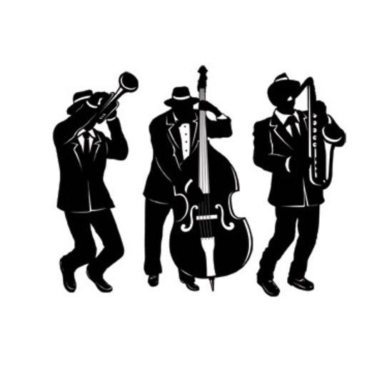 Mardi Gras Decorations Jazz Trio Silhouettes Image