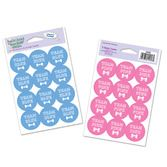 Baby Shower Decorations Team Blue/Pink Stickers Image