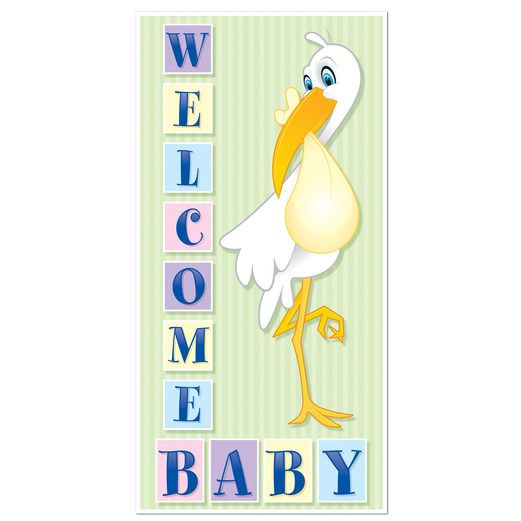 Baby Shower Decorations Welcome Baby Door Cover Image