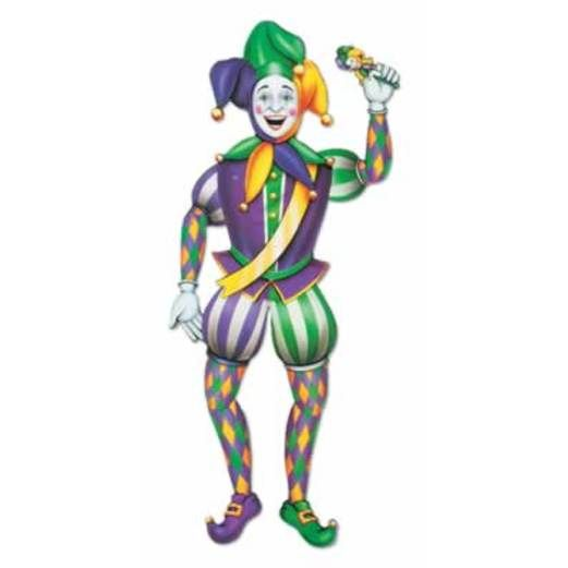 Mardi Gras Decorations Mardi Gras Jointed Jester Image