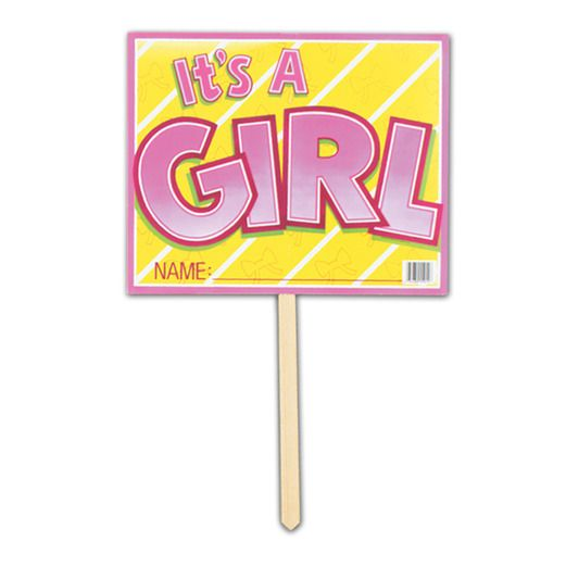 Baby Shower Decorations It's A Girl Yard Sign Image