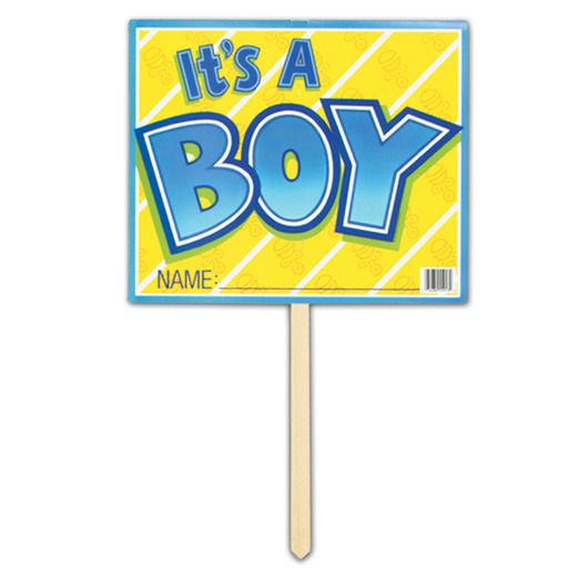 Baby Shower Decorations It's A Boy Yard Sign Image