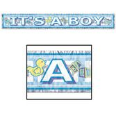 Baby Shower Decorations It's A Boy Fringe Banner Image