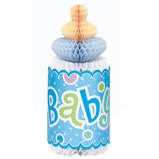 Baby Shower Decorations Baby Blue Tissue Bottle Image
