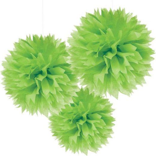 Easter Decorations Light Green Fluffy Tissue Balls Image